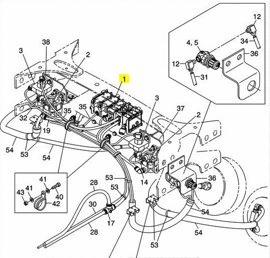Freightliner 7030-80 Tag / Pusher Components