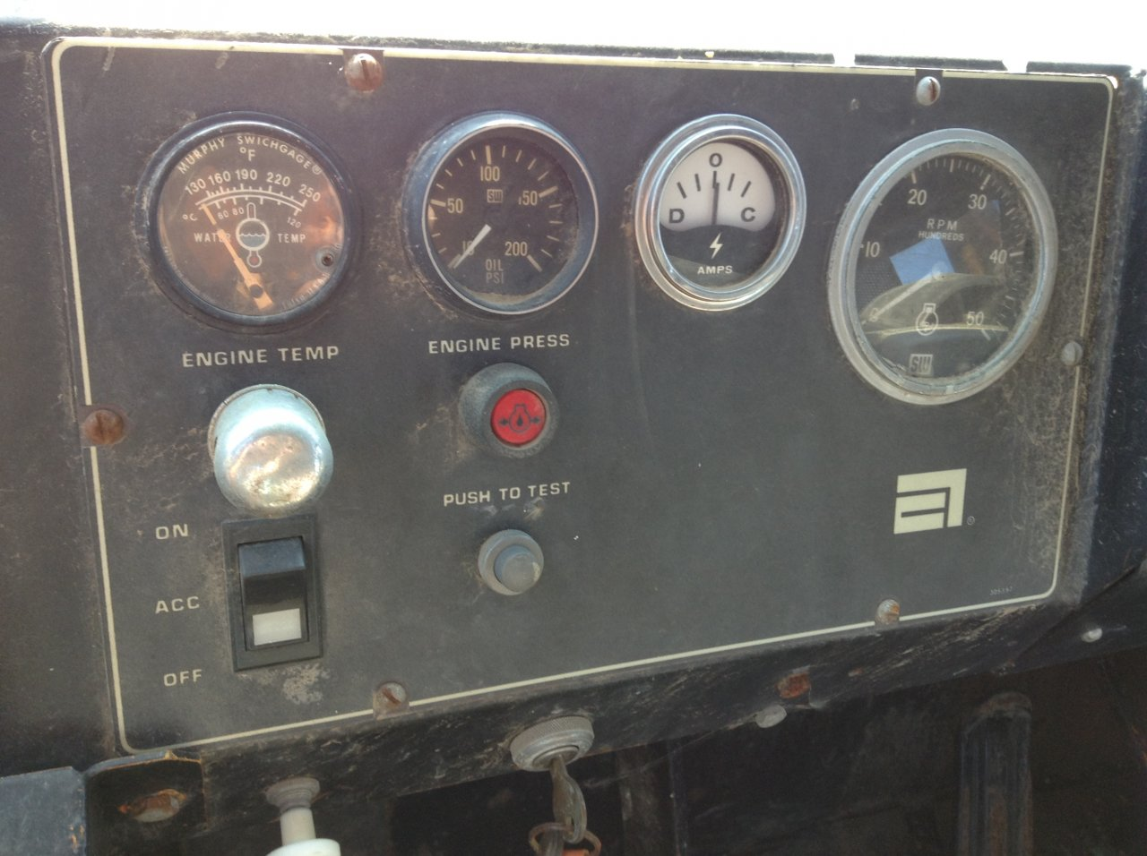 AG-CHEM 1253 Instrument Cluster