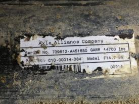 Alliance Axle AF-14.7-3 Axle Assembly, Front