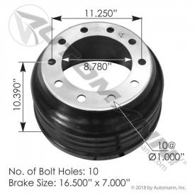 Automann 151.6700BA-LW Brake Drum