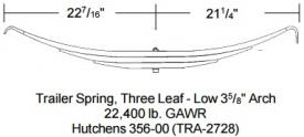 Triangle Spring TRA2728 Leaf Spring, Rear
