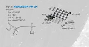 NU-LINE N8060SSMK-PM-2X Fender Mount Hardware [kit]
