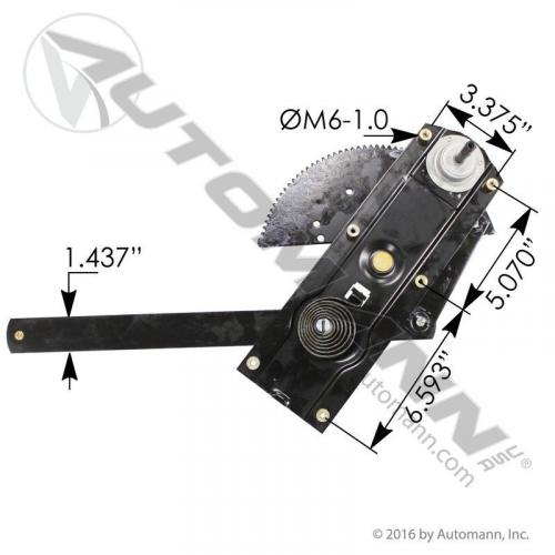 Kenworth T600 Door Window Regulator, Front
